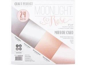 9407E Tonic Studios Craft perfect Mirror Card Pack Moonlight Rose-0