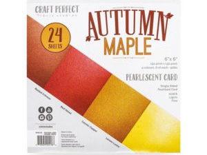 9416E Tonic Studios Craft perfect PearlescentCard Pack Autumn Maple-0