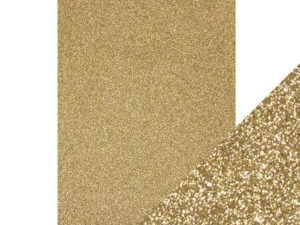 9940E Tonic Studios Craft perfect Glitter Card A4 Gold Dust-0