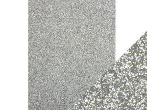 9941E Tonic Studios Craft perfect Glitter Card A4 Silver Screen-0