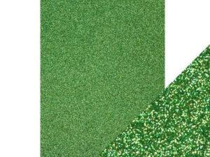 9945E Tonic Studios Craft perfect Glitter Card A4 Lucky Shamrock-0