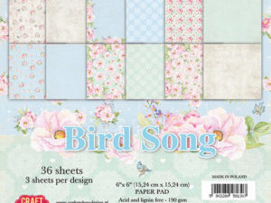 CPB-BS15 Craft & You Papirblok Bird Song-0
