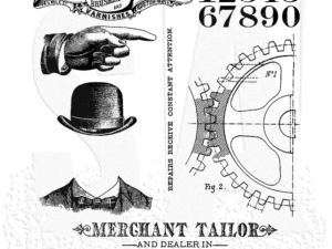 CMS267 Stampers Anonymous Tim Holtz Dapper-0
