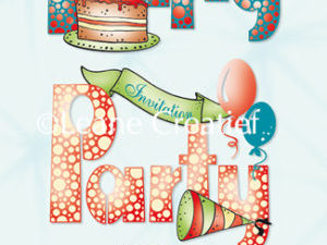 55.4049 Leane Creatief stempel/clearstamp Party-0