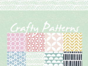 PB7054 Marianne Design Papirblok A5 Crafty Patterns-0