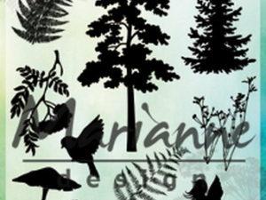 CS1013 Marianne Design Stempel, Silhouette Fairy Forest-0