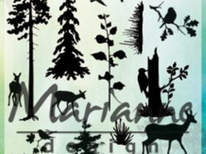 CS1014 Marianne Design Stempel, Silhouette Woodland-0