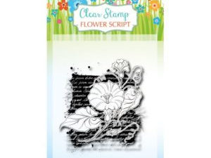 6410/0387 JOY Stempel Clear stamps Flower Script-0