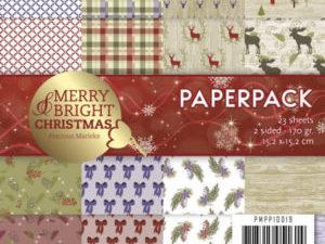 PMPP10019 Precious Marieke Papirsblok Merry Bright Christmas-0