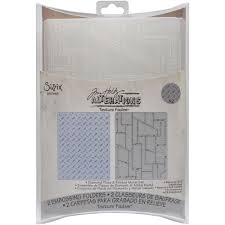 657848 Sizzix Tim Holtz Embossing Diamond Plate & Riveted Metal Set-0