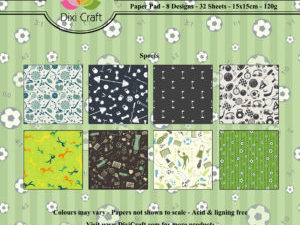 PP0076 Dixi Craft Papirsblok Sports, Green-0