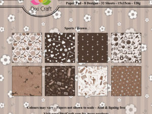 PP0077 Dixi Craft Papirsblok Sports, Brown-0