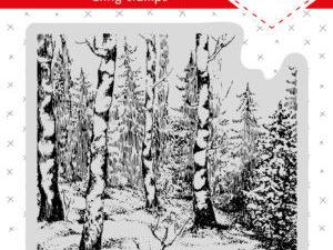 CLINGSL01 StudioLight stempel Essentials, Skovens træer-0