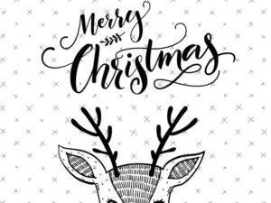stampsl324 StudioLight stempel Essentials, Rådyrhoved/Merry Christmas -0