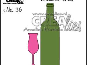 CLDF36 Crealies Die Double Fun, Flaske og Glas-0