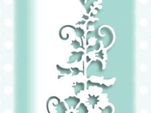 CEDPC1057 Creative Expressions Cathie Shuttleworth Die, Paper Cuts Collection, Hollyhock Edger-0