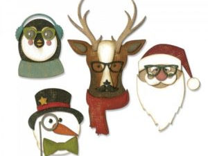663099 Sizzix Die Tim Holtz Alterations Thinlits Cool Yule-0