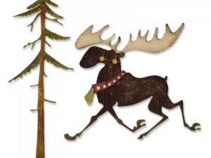 663103 Sizzix Die Tim Holtz Alterations Thinlits Merry Moose-0