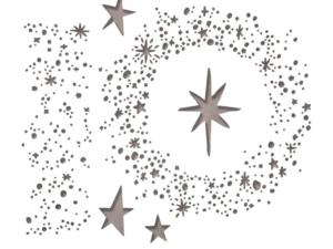 663117 Sizzix Die Tim Holtz Alterations Thinlits Snowy Stars-0