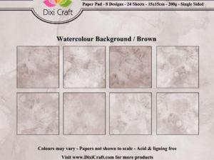 PPL017 Dixi Craft Papirspakning, Watercolour Background - Brown-0