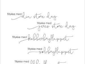 "SBC013 Simple and Basic Stempel ""Dansk Tekst"" Tillykke med ........-0"