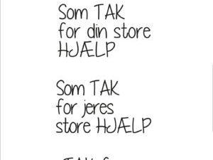 """SBC016 Simple and Basic Stempel """"Dansk Tekst"""" Tak for hjælpen-0"""