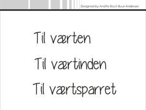 "SBC017 Simple and Basic Stempel ""Dansk Tekst"" Til værterne-0"