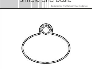 SBD014 Simple and Basic die, Pierced Oval Tag-0