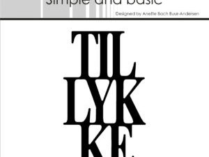 SBD015 Simple and Basic die, Tillykke-0