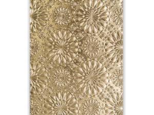 663296 Sizzix Tim Holtz Embossingfolder A6,3D Texture Fades, Kaleidoscope-0