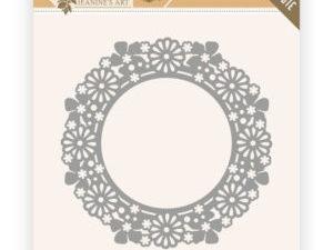 JAD10059 Jeanine`s Art Die Birds & Flowers, Flower Circle-0