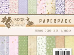 JAPP10008 Jeanine`s Art Papirsblok Birds & Flowers-0