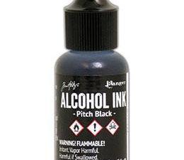 TIM22138 Ranger Tim Holtz Alcohol Ink, Pitch Black-0