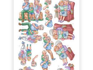CD11238 Yvonne Design 3D 1 ark Funky Nanna & Grandpa-0