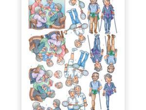 CD11239 Yvonne Design 3D 1 ark Funky Nanna & Grandpa-0