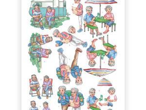 CD11240 Yvonne Design 3D 1 ark Funky Nanna & Grandpa-0