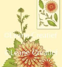 55.5749 Leane Creatief stempel/clearstamp Chrysanthemum 3D Flower-0