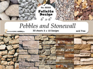 69308 Felicita Design papirsblok 15 x 15 cm mursten-0