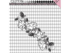 YCD10162 Yvonne Creations Die Pretty Pierrot 2 - Rose Border-0