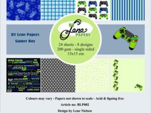 BLP002 By Lene papirblok, Gamer Boy-0