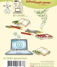 55.5688 Leane Creatief stempel/clearstamp Laptop/School-0