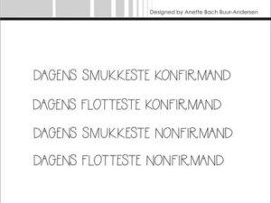 """SBC032 Simple and Basic Stempel """"Dansk Tekst"""" Dagens ...-0"""