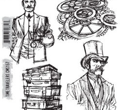CMS157 Stampers Anonymous Tim Holtz Time Travelers-0