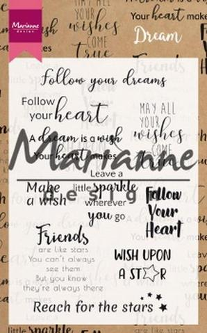CS1018 Marianne Design Stempel Dream Sentiments -0