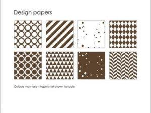 SBP007 Simple and Basic Design Papir, mørkebrun-0