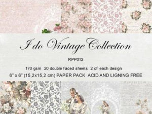 RPP012 Reprint papir 15x15, I Do Vintage Collection-0