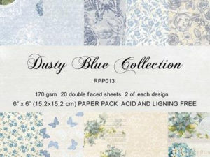 RPP013 Reprint papir 15x15, Dusty Blue Collection-0