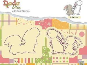 DDCS008 Nellie Snellen Die/Clearstamp Dada Design Walking with mama-0