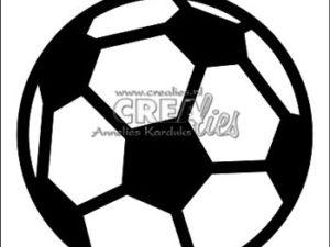 CLCZ14 Crealies Dies Cardzz 14 Soccer Ball-0