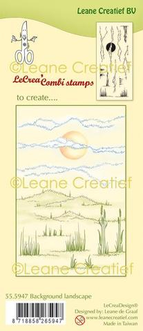 55.5947 Leane Creatief stempel/clearstamp Background Landscape-0